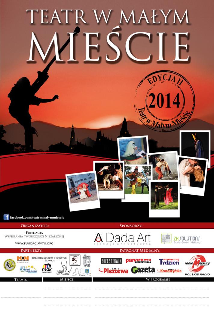plakat Teatr  Małym Mieście